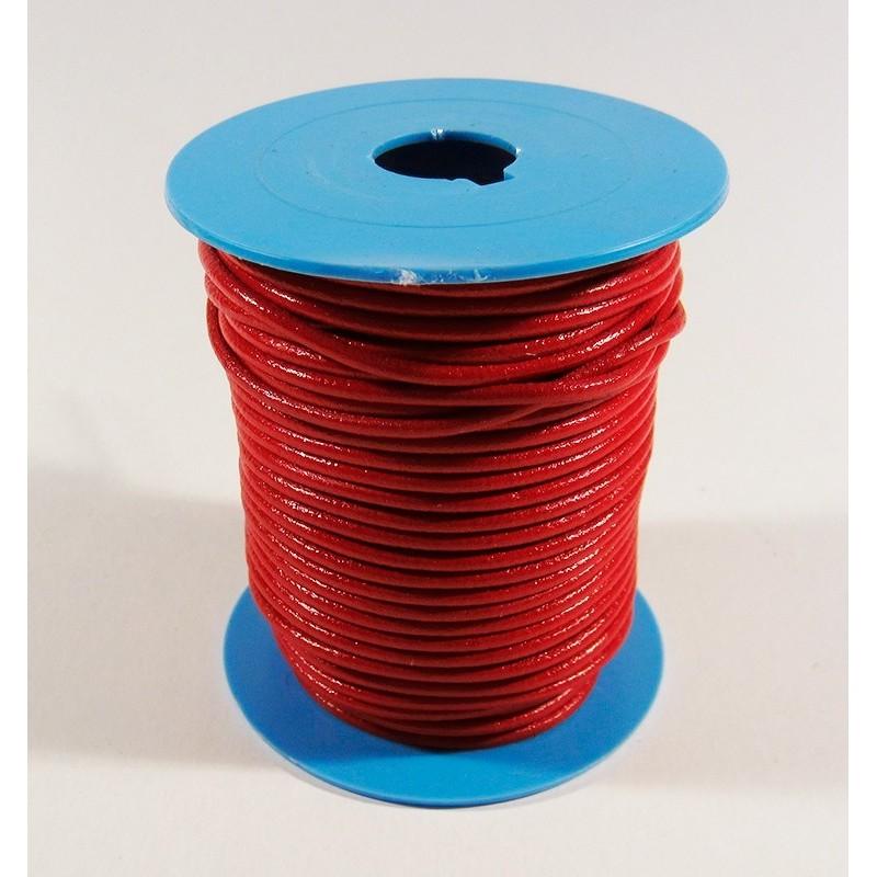 Bobina cordón de cuero de 2 de 25 m.