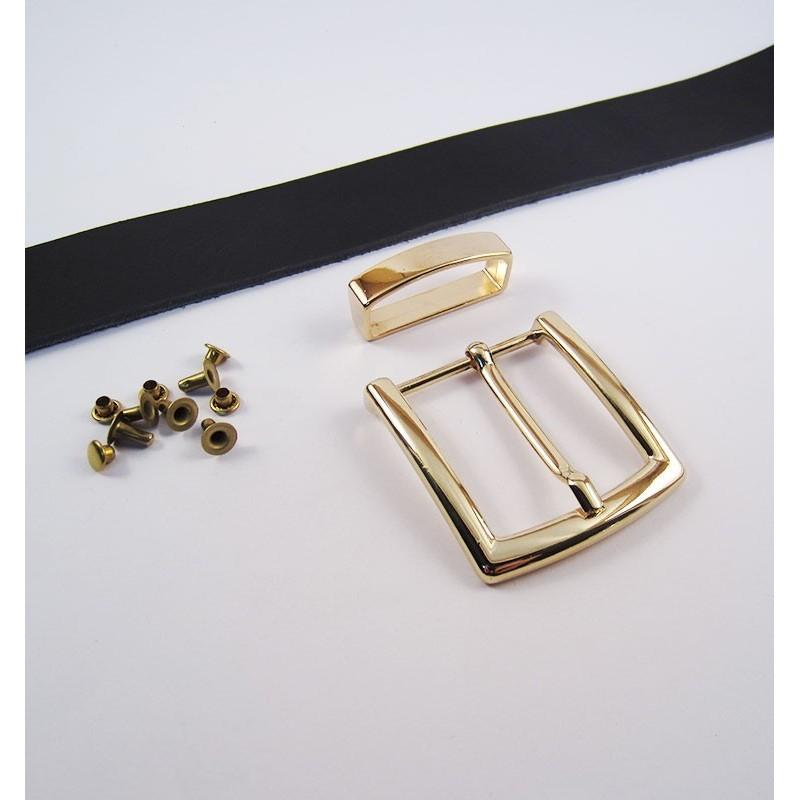 Kit básico de cinturón de cuero artesanal