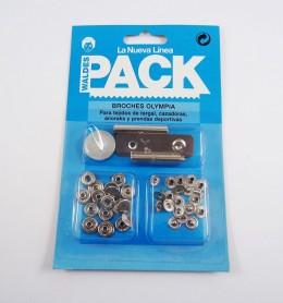 Pack broches Olimpia 200 con útiles de colocación