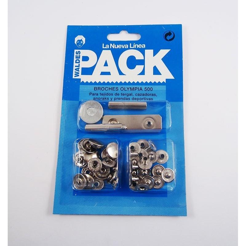 Pack broches Olimpia 500 con útiles de colocación