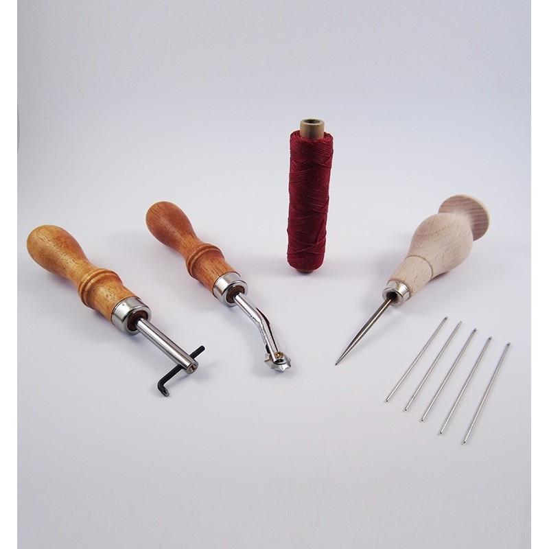 Kit de iniciación para coser cuero