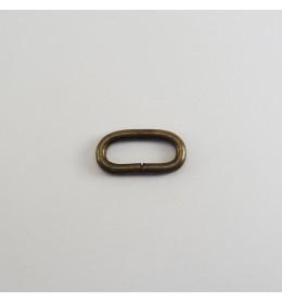Anilla ovalada abierta 25x8 mm oro viejo