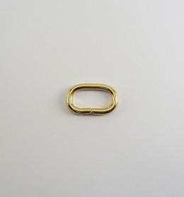Anilla ovalada abierta 25x12 mm dorado