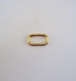 Anilla ovalada abierta 23x10 mm dorado